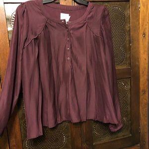 Plum sink dress shirt urban outfitters